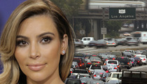Kim Kardashian Pulled Over on L.A. Freeway -- MAYHEM ENSUES