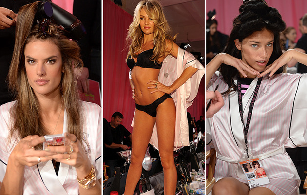 Victoria's Secret Models -- Before They're Camera-Ready!