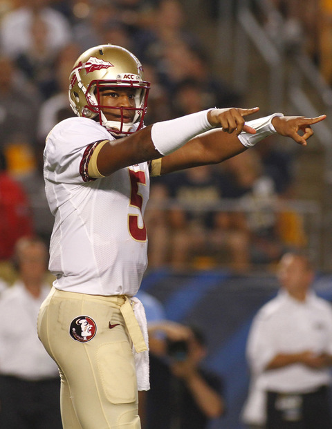 <span>Florida State QB</span><strong> Jameis Winston</strong><span> -- frontrunner for the </span><strong>Heisman Trophy</strong><span>&#1
