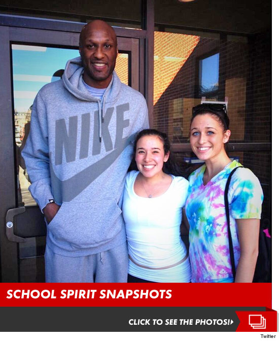 Lamar Odom -- Back to School at Univ. of Rhode Island