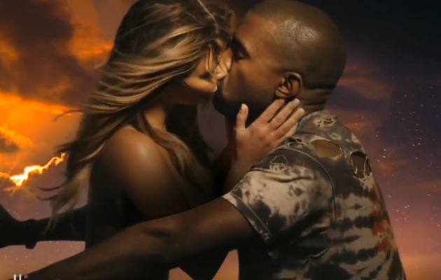 "Kim Kardashian Goes Topless In Kanye West's ""Bound 2"" Music Video"