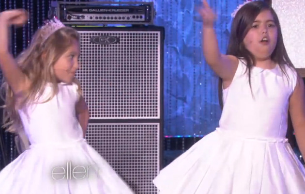 "Video: Sophia Grace & Rosie Perform Macklemore's ""Can't Hold Us"""