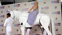 "Lady Gaga Arrives On ""Horseback"" to the American Music Awards"