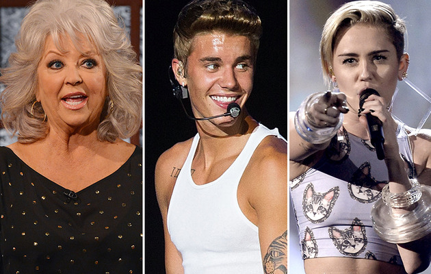 Paula Deen, Justin Bieber & Miley Cyrus Top GQ's Least Influential List