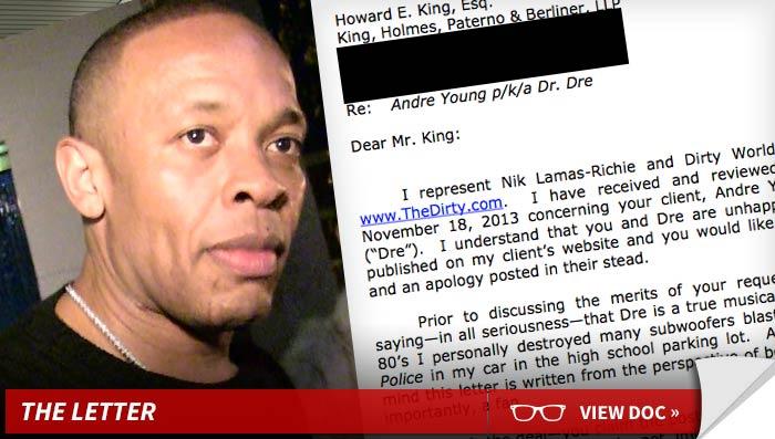 Dear Dr. Dre