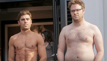 "Zac Efron, Seth Rogen Go Shirtless & Tease ""Bound 4"" Video"
