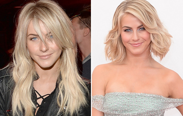 Julianne Hough Gets New 'Do -- Sports Bangs & Extensions
