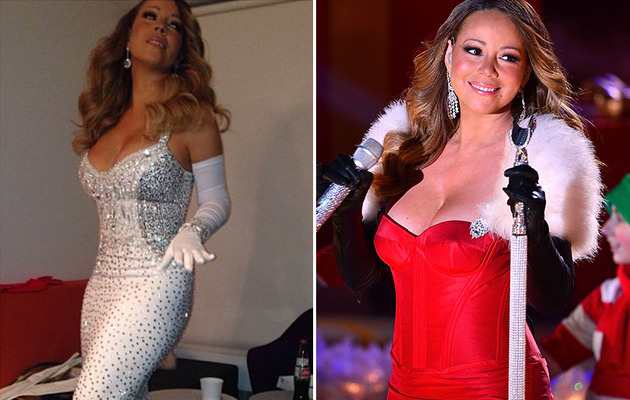 Mariah Carey Looks Super Skinny at Rockefeller Christmas Performance!