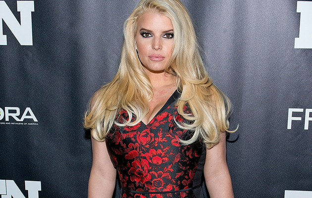 Jessica Simpson Looks Red Hot In Tight Dress In NYC