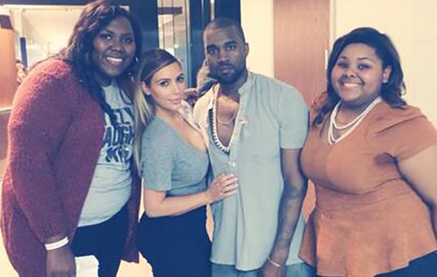 Kim Kardashian Makes Fans' Lucky Day At Kanye West Concert!