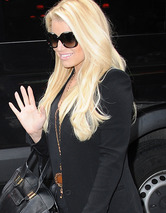 Jessica Simpson Steps Out in Thigh High