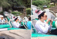 Amanda Bynes At Disneyland Acting Goofy