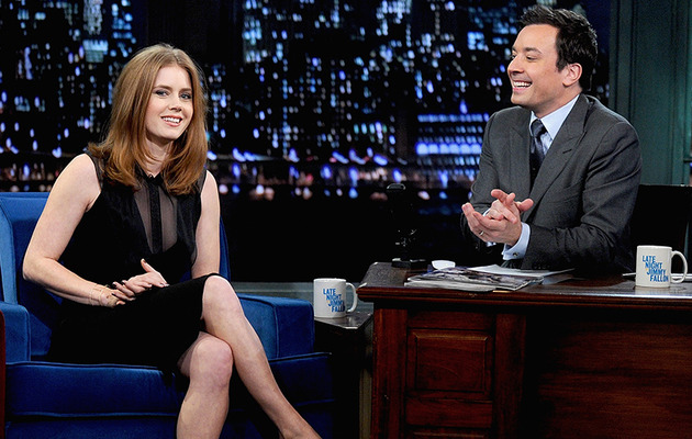 Amy Adams Watches Her On-Camera Debut -- See the Hilarious Clip!