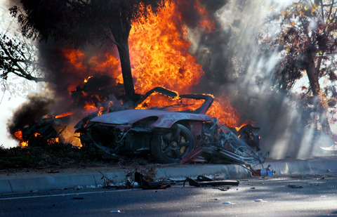 This Picture Of Paul Walkers Car Burning Creeps Me Out