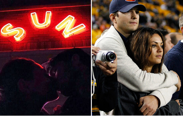 Ashton Kutcher Posts Instagram Pic Kissing Mila Kunis!