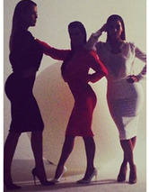 Behind The Scenes of New Kardashian Kollection Photo Shoot