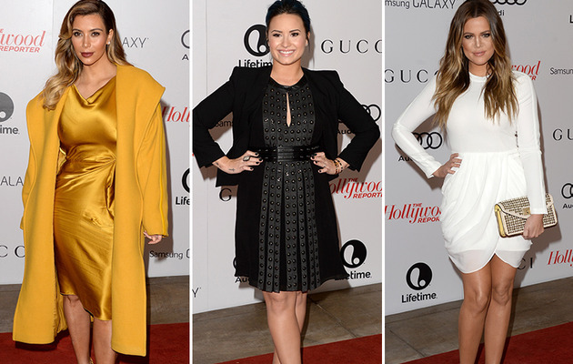 Kardashians, Demi Lovato & More Stun at Women in Entertainment Event!