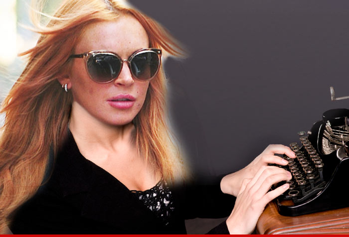 Lindsay Lohan -- I'm Spilling All My Secrets ... In a Tell-All Book