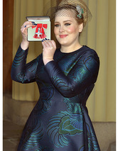 Adele Awarded MBE Medal from
