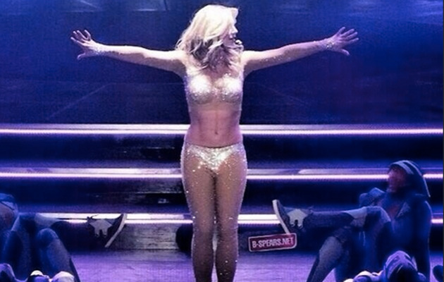 """Britney Spears Flaunts Hot Bod at """"Piece of Me"""" Dress Rehearsal!"""