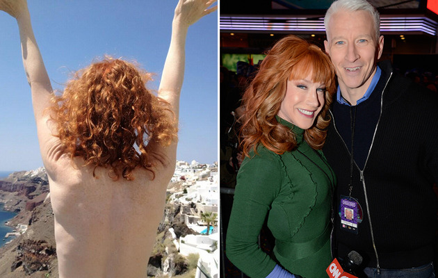 Anderson Cooper Tweets Topless Photo of Kathy Griffin!