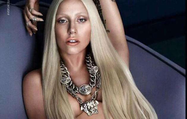 Lady Gaga Poses Topless For Versace -- See the Sexy Ad!