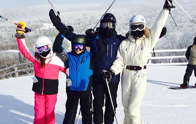 Michael Douglas & Catherine Zeta-Jones Enjoy Family Ski Trip Together