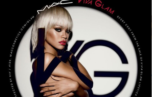 Rihanna Poses Topless for MAC Cosmetics -- See the Sexy Ad!