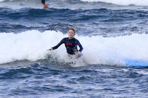 Emma Stone Surfing Photos -- Wipe Out!