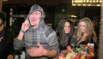 Johnny Manziel -- Partyin' with FSU Peeps In Hollywood ... Goes Home with TWO Hot Chicks
