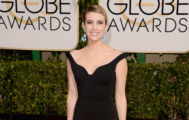 Emma Roberts Shows Off Engagement Ring at Golden Globes