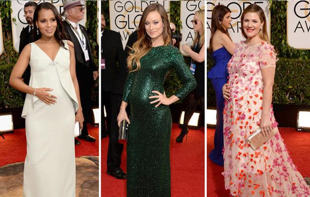 Golden Globes Red Carpet: Beautiful Expecting Stars!