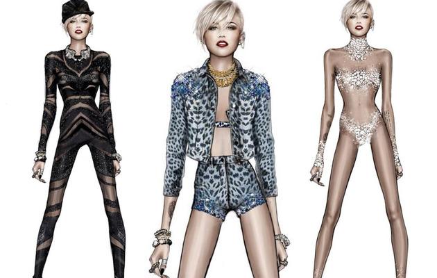 "Roberto Cavalli Reveals Miley Cyrus' ""Bangerz"" Tour Costumes"