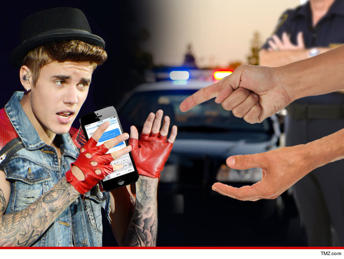 Justin Bieber Tells Sheriff's Deputies to Pound Sand -- My Cell Phone Is My Secret!