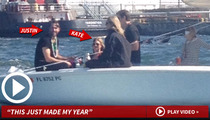 Justin Verlander -- Plays Pirate with Kate Upton's Booty ... Witnesses Celebrate!