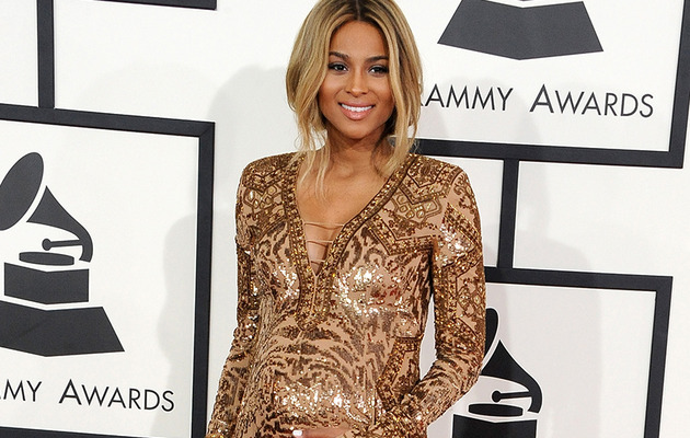 Ciara Flaunts Baby Bump on Grammy Awards Red Carpet!