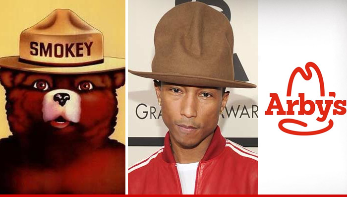 0127_arbys_logo_Article_pharrell_williams_smokey_the_bear