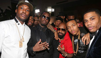 CRAZY Grammy Party -- Cops Shut Down Meek Mill, Diddy, a Camel & a Lion