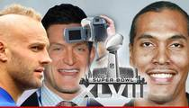 NFL Stars -- We're Workin' for TMZ at the Super Bowl ... As Paparazzi!