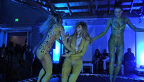 CeeLo -- Body-Painted Girls on Trampoline ... That's How I Throw a Grammy Party
