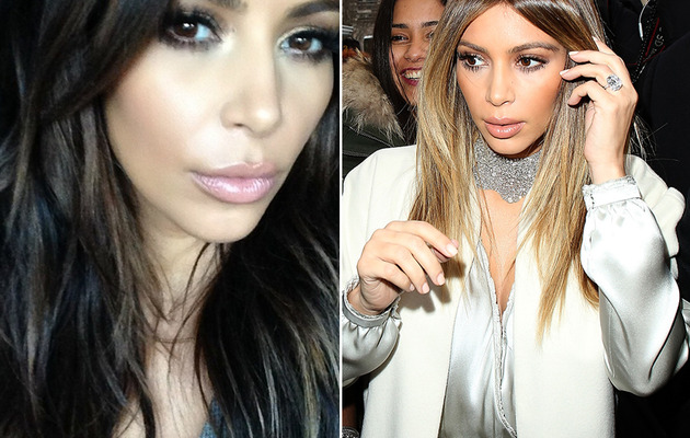 Kim Kardashian Goes Back to Brunette