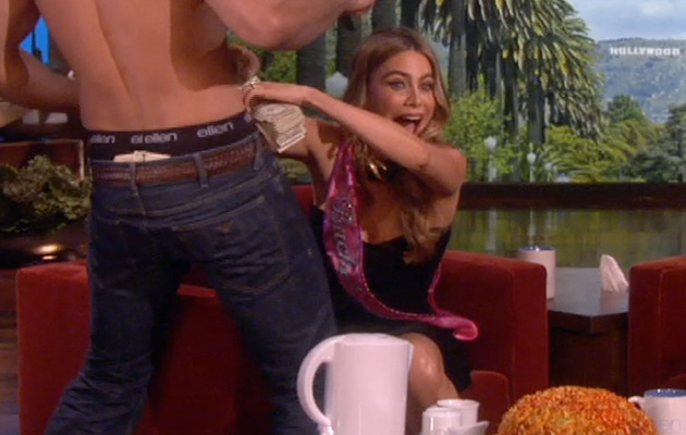 Ellen DeGeneres Surprises Sofia Vergara with a Stripper