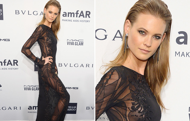 Behati Prinsloo Skips Underwear in Sexy Sheer Gown at amfAR Gala!