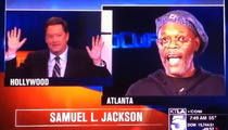 Samuel L. Jackson DESTROYS News Anchor -- I'm Not Laurence Fishburne, YOU MORON!!!