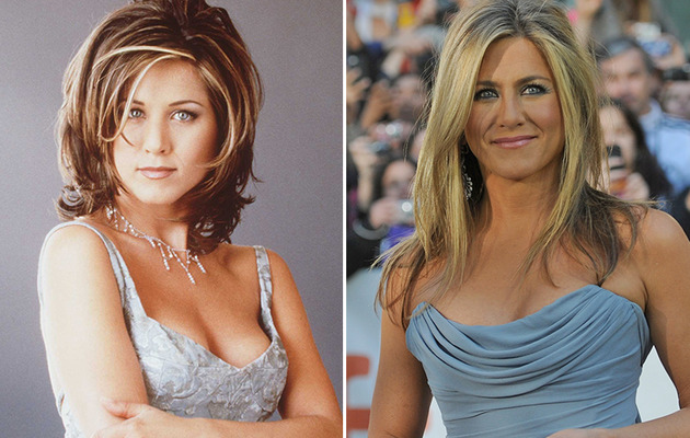"Jennifer Aniston Turns 45 -- See the Cast of ""Friends"" Then & Now!"