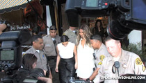 Kim Kardashian -- Huge Law Enforcement Presence -- So She Can Buy Presents