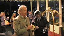 Bill Murray to Homeless Guy -- I DON'T GIVE CASH TO UNC FANS .... (Just Kidding, Here's $10)