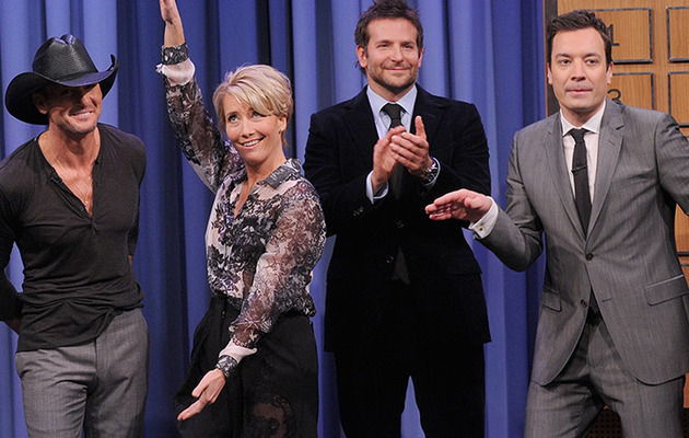 Watch Jimmy Fallon Play Charades with Bradley Cooper, Tim McGraw and Emma Thompson