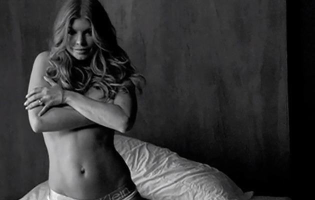 Fergie Goes Topless in Calvin Klein Underwear -- See the Sexy Video!