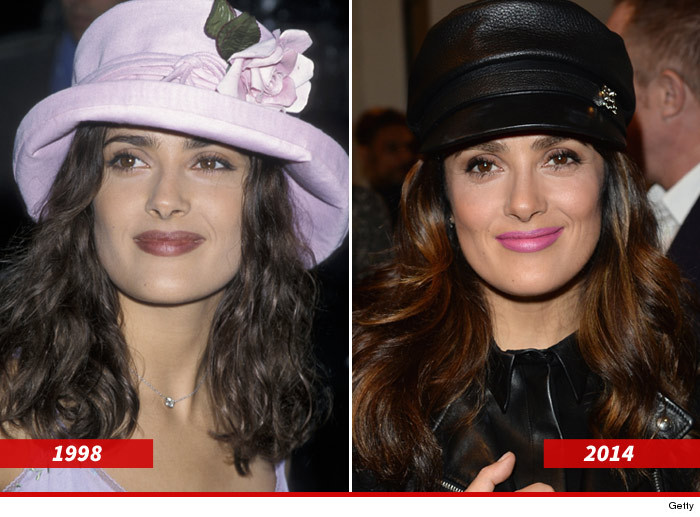 0221_salma_hayek_hats_good_genes_launch